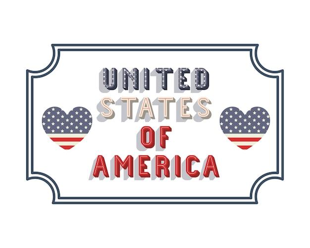 United states of america frame vector illustration design Premium Vector