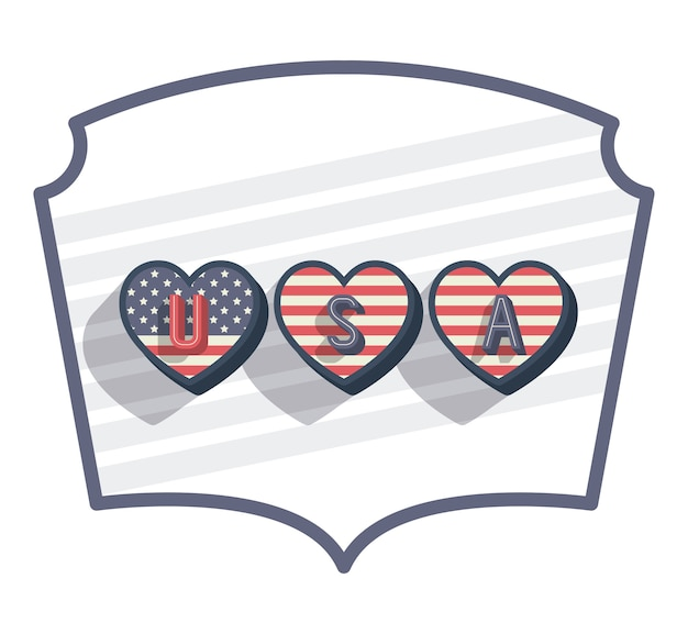 United states of america frame vector illustration design Premium Vector