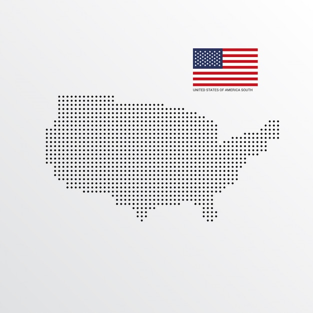 United states of america south map design Free Vector