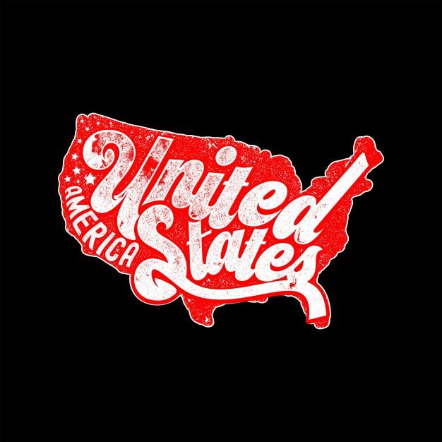 United states of america vintage Premium Vector