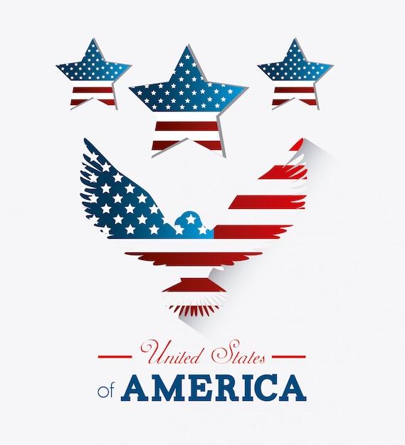 United states design. Free Vector