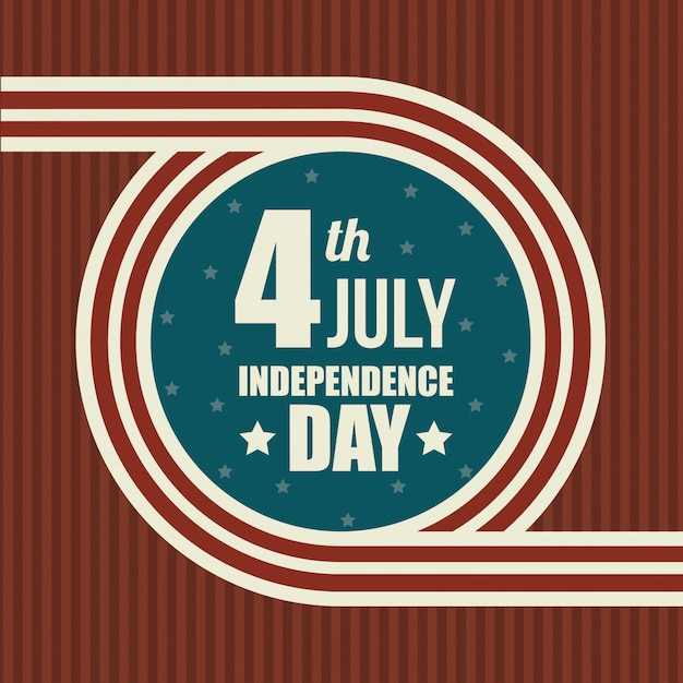 United states happy independence day, 4th july celebration Free Vector