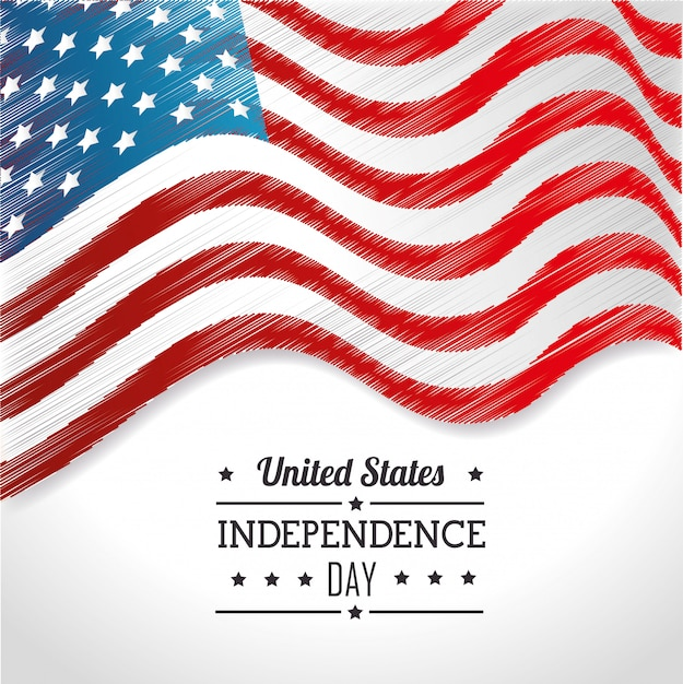 United states independence day, 4th july celebration Free Vector