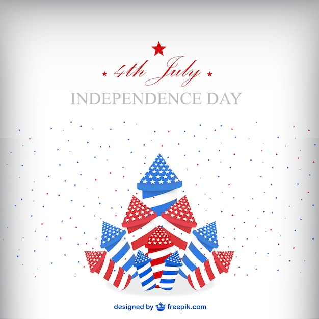 United States Independence Day Background With Fireworks Vector - Free united states vector