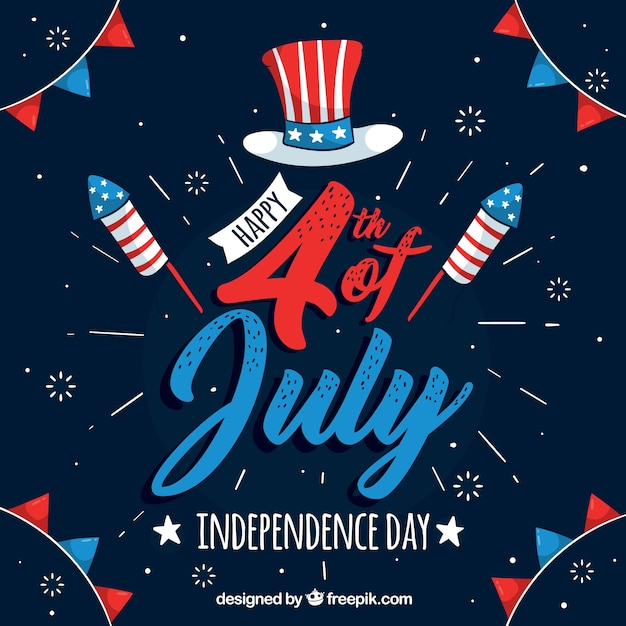 United states independence day celebration background Premium Vector