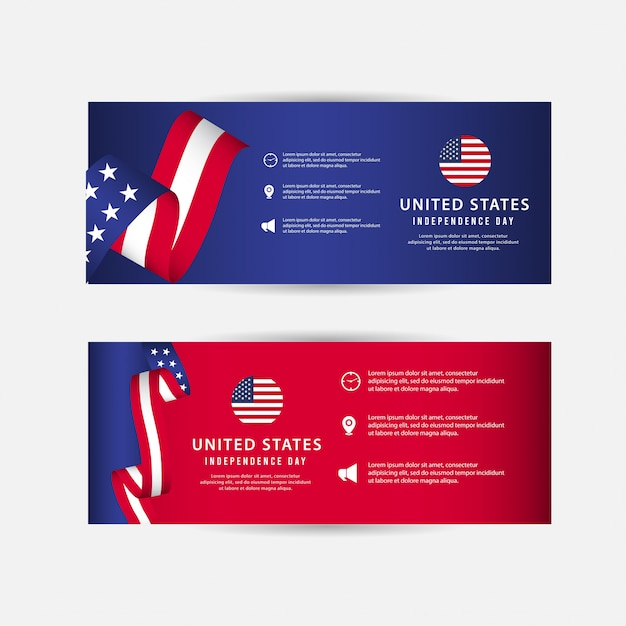 United states independence day Premium Vector