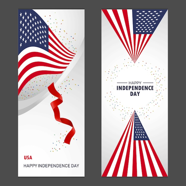 United States of America Happy independence day  Free Vector