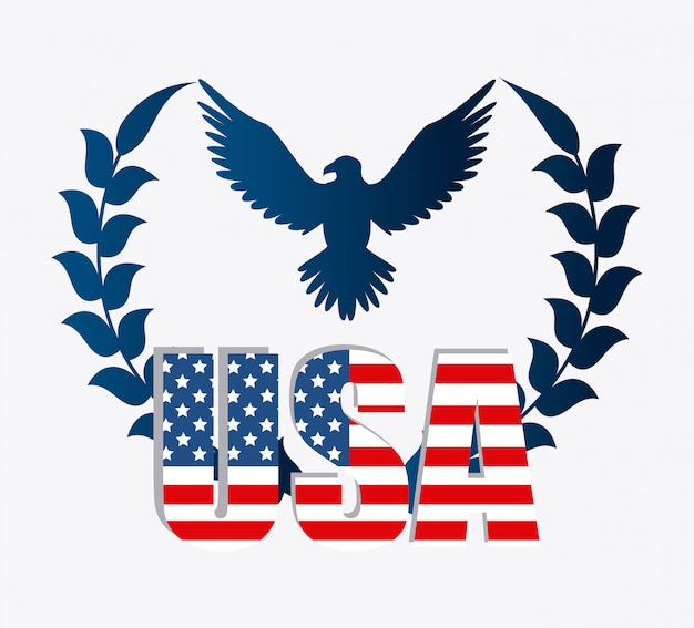 United states patriotism design. Free Vector