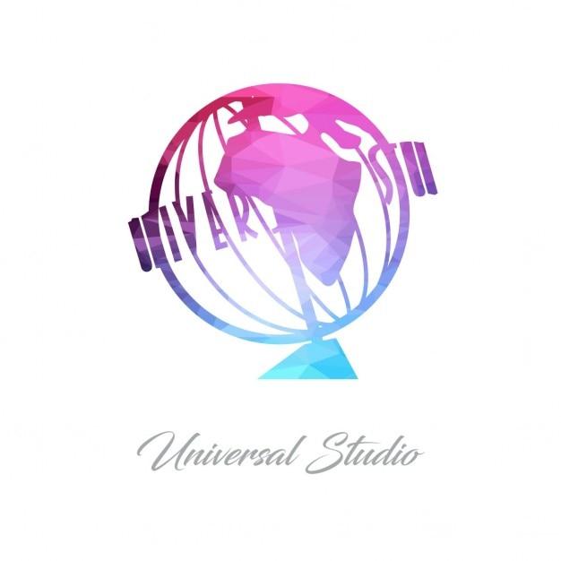 universal studio polygonal vector free download