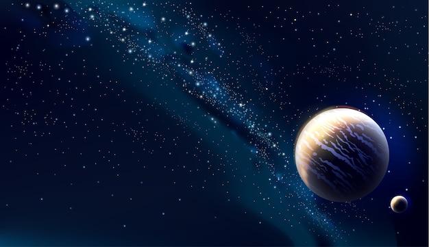 宇宙の概念図 Premiumベクター