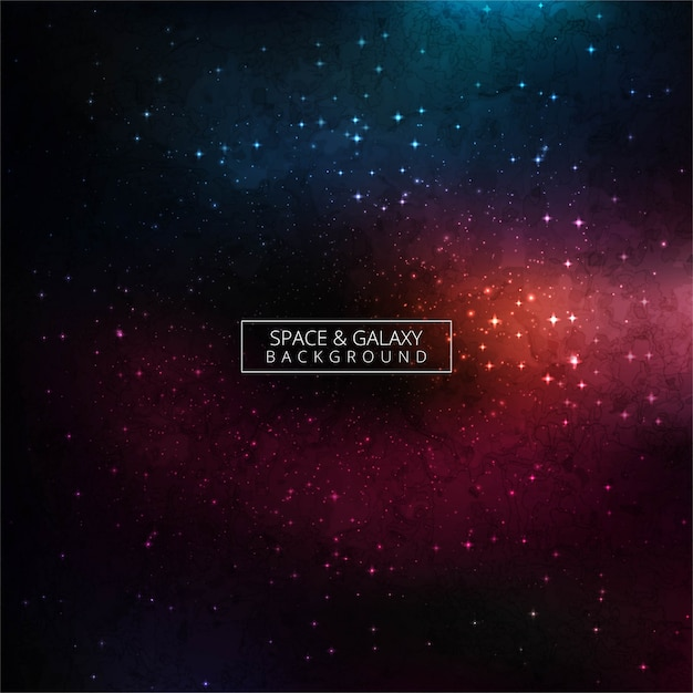 Universe filled with stars, nebula and galaxy background Premium Vector