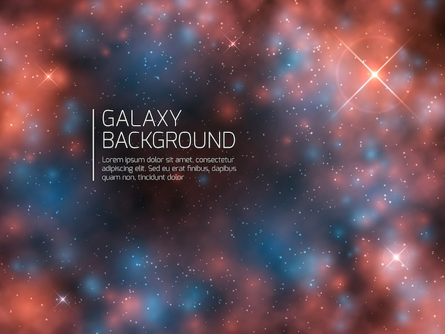 Universe galaxy and night stars. cosmos mystical supernova abstract vector background Premium Vector