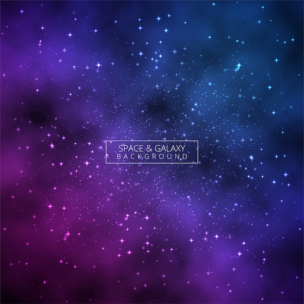 Universe shiny colorful galaxy glowing background vector Premium Vector