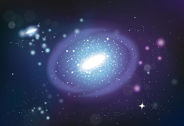 宇宙システムの現実的な構成 無料ベクター