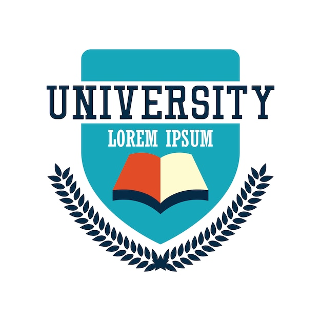 University / campus logo Premium Vector