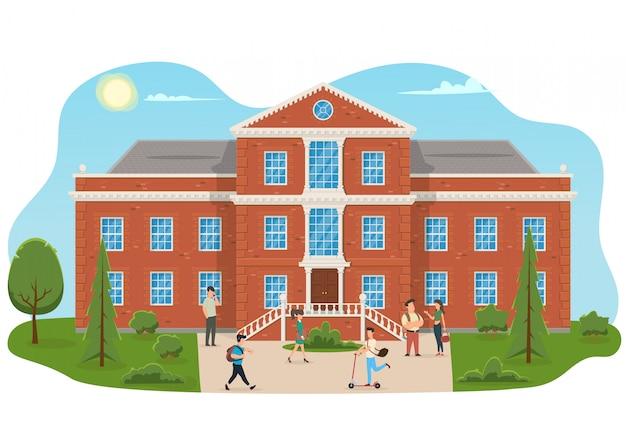 University or college building. Premium Vector