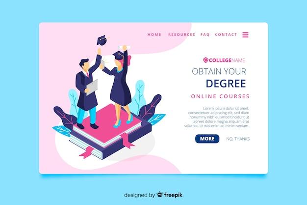University landing page Free Vector