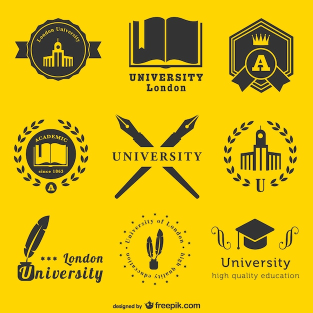University Logos Template Vector Free Download
