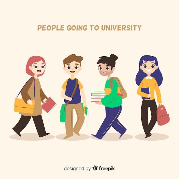 University student Free Vector