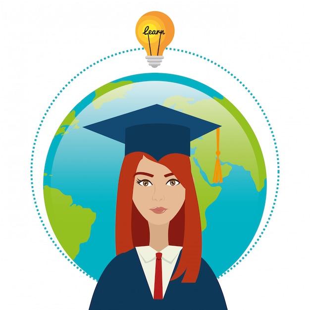 University students graduation Free Vector