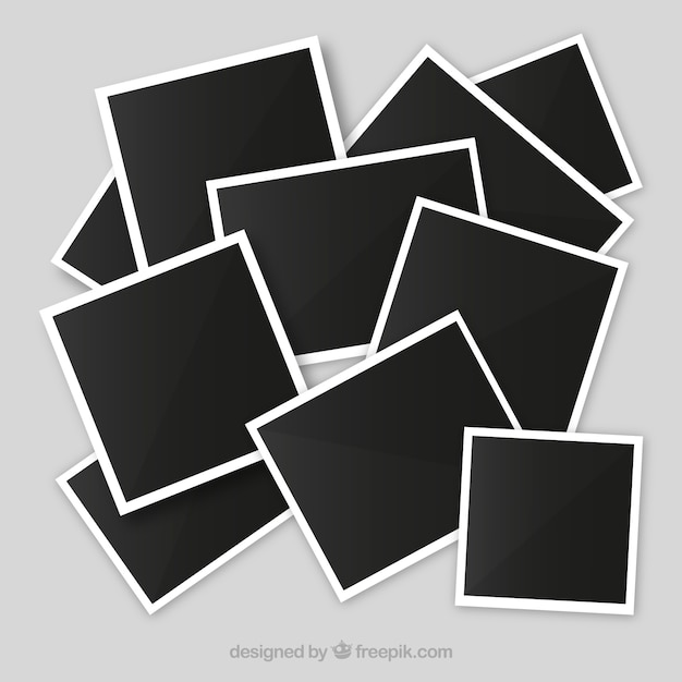 Untidy Photo Frame Collage Vector