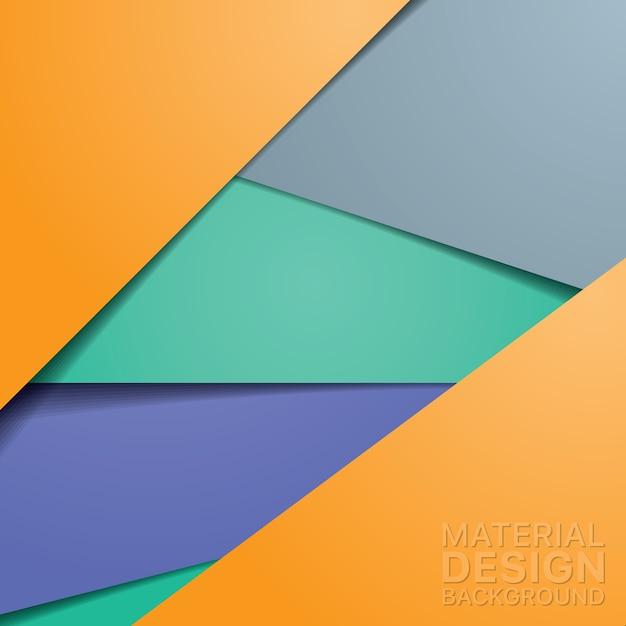 Design insolito materiale moderno con colori arancioni e blu Vettore gratuito