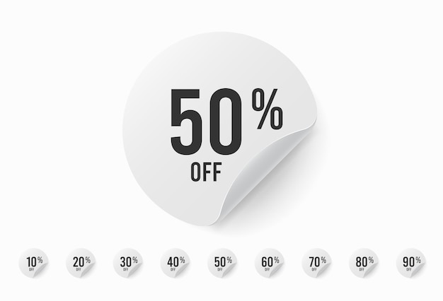 ステッカーセットが最大90%割引。サークルラベル Premiumベクター