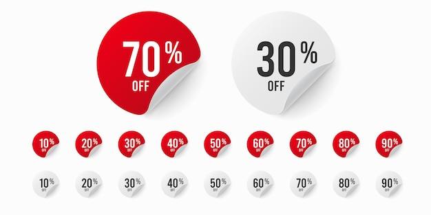 ステッカーセットが最大90%割引。 Premiumベクター