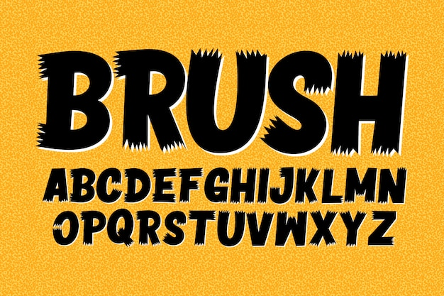 ブラシアルファベットの大文字 無料ベクター