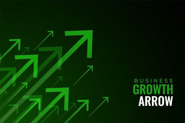 비즈니스 판매 성장의 상향 녹색 화살표 무료 벡터