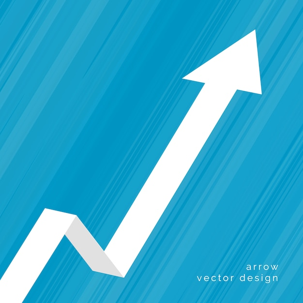 Upward moving arrow business background Free Vector