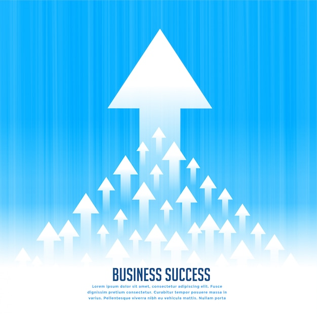Upward rising leading arrows for business growth concept Free Vector