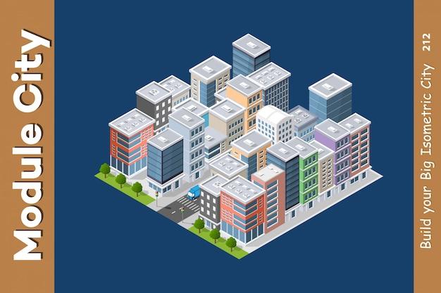 Urban architecture intelligence Premium Vector