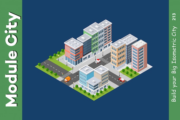 Urban architecture intelligence Premium Vector