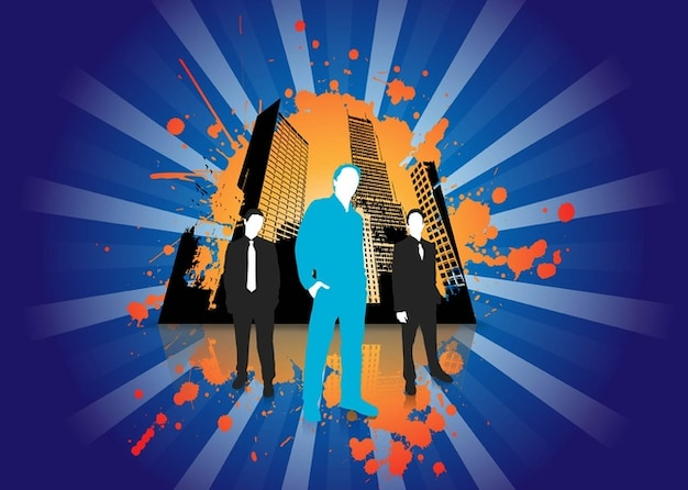 Urban Business People Vector