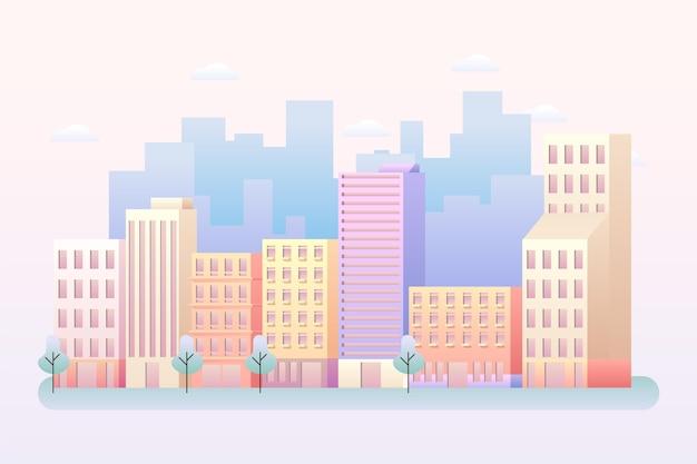 Городской город - фон для видеоконференцсвязи Бесплатные векторы