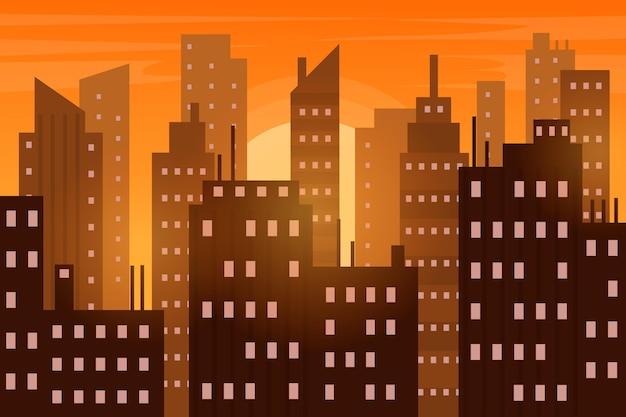 ビデオ会議用の都市の壁紙 無料ベクター