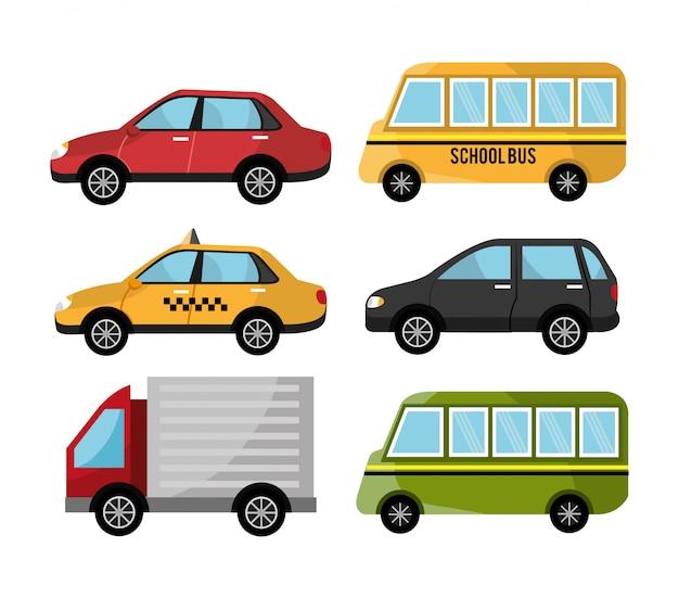 Urban design vehicles Free Vector