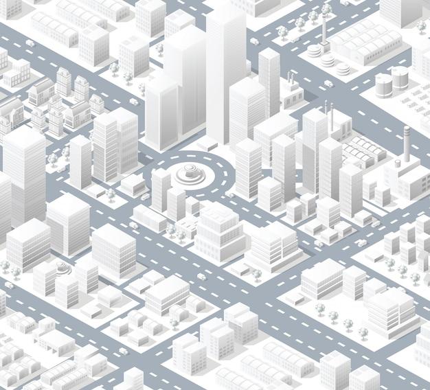 Urban district of the city Premium Vector