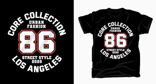 Городская мода восемьдесят шесть университетская типография для футболки Premium векторы