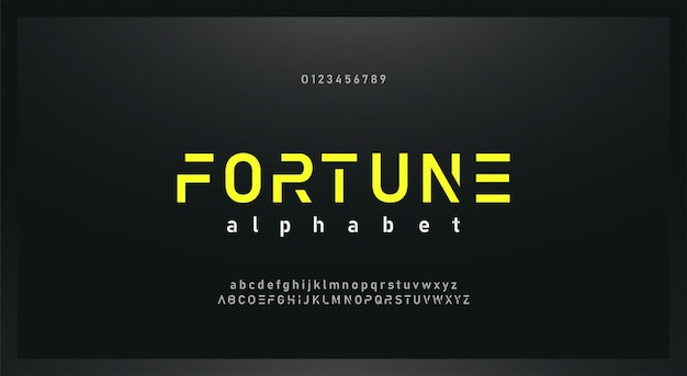 Urban modern  future alphabet font and number set Premium Vector