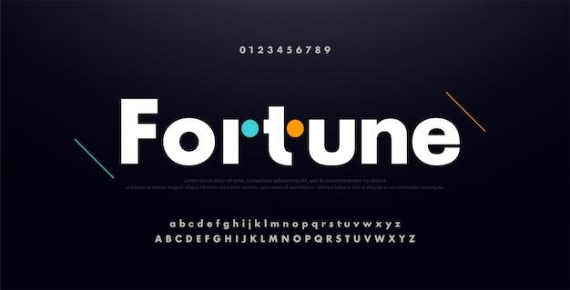 Urban modern future creative alphabet font, number Premium Vector