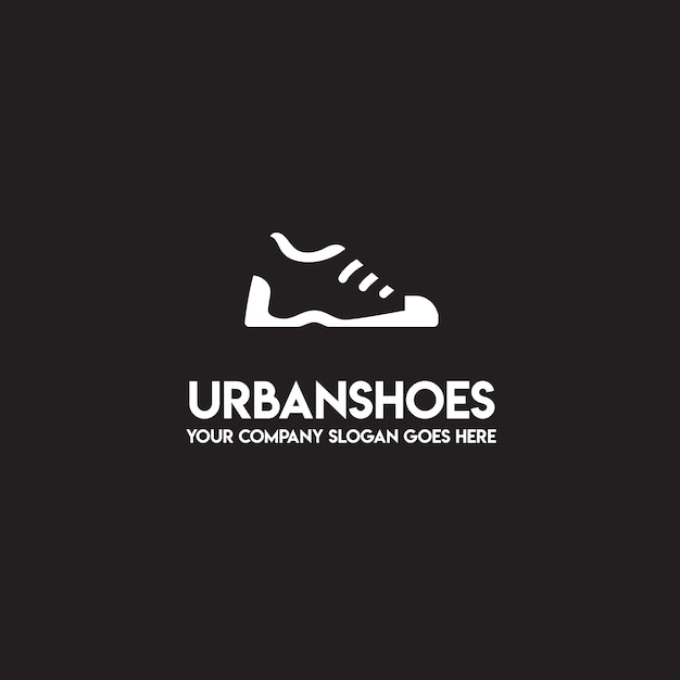 urban shoes logo free vector