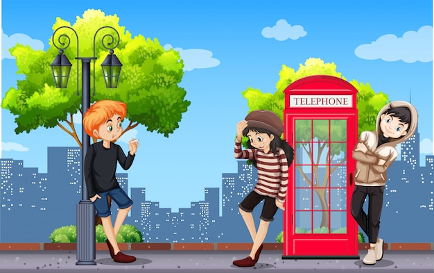 Urban teenager in town Free Vector