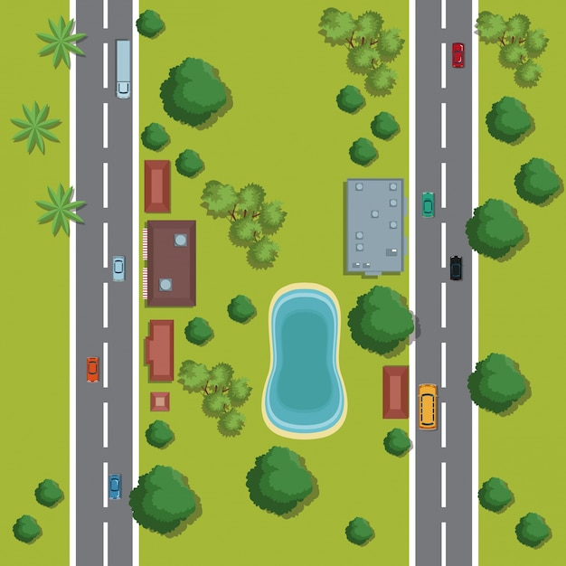 Premium Vector Urban Top View Cartoon Find images of tree cartoon. https www freepik com profile preagreement getstarted 1878717