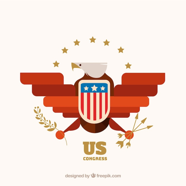 Us Congress Symbol With Flat Design Vector Free Download