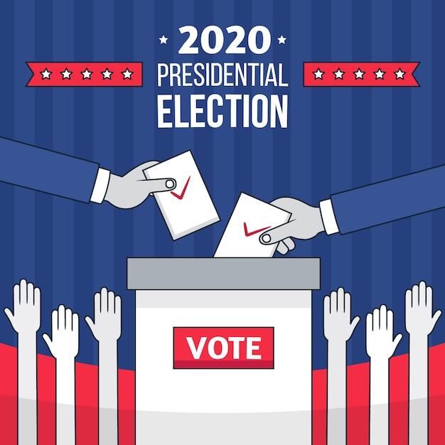 私たち大統領選挙のイラスト Premiumベクター