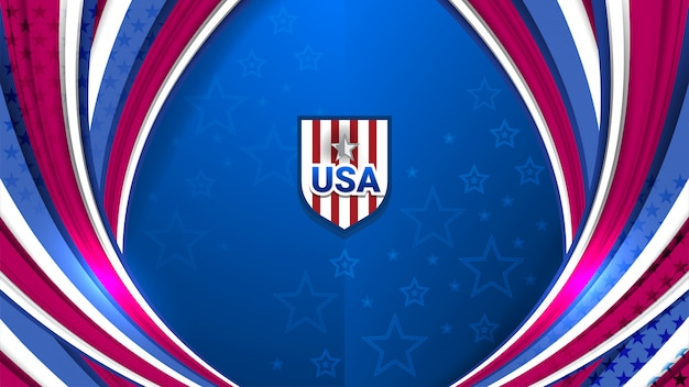 Usa background for holiday Premium Vector