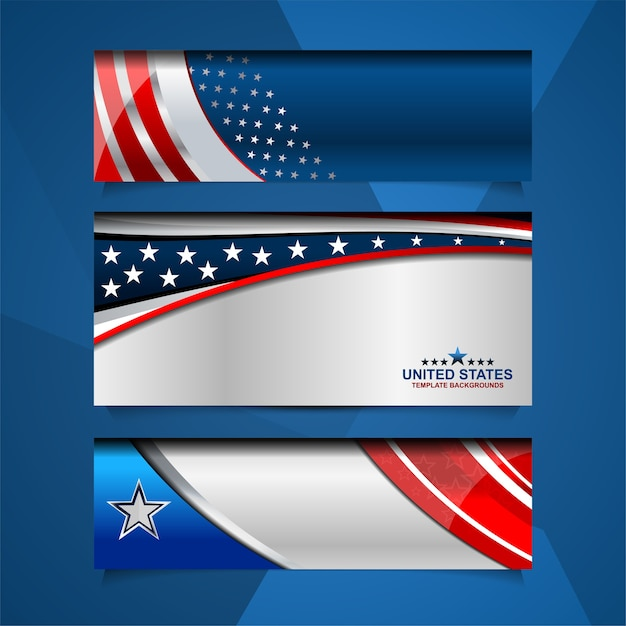 Usa banner background for independence day and other ...