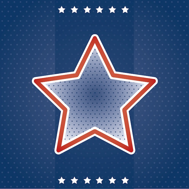 Usa card with star Free Vector